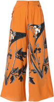 OSKLEN printed palazzo pants - women - Silk - 38