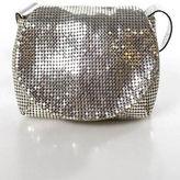 Whiting & Davis Silver Tone Chain Mail Small Metallic Strap Crossbody Handbag