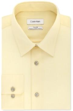 Calvin Klein Men's Steel+ Classic-Fit Lemon Glaze Check Dress Shirt