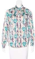 Love Moschino Printed Sash Tie Blouse w/ Tags
