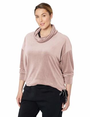 Calvin Klein CALVINKLEIN Women's Plus Size Bottom Tie Cowl Neck Pullover