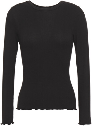Enza Costa Ribbed-knit Top