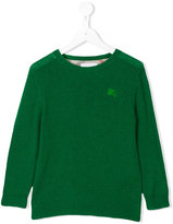 Burberry embroidered logo jumper - kids - Cashmere - 8 yrs