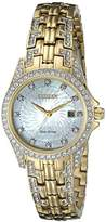 Citizen Eco-Drive Women's EW1222-84D Silhouette Crystal Watch