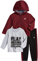 Champion 3-Pc. Zip-Up Hoodie, Graphic-Print T-Shirt & Jogger Pants Set, Baby Boys (0-24 months)