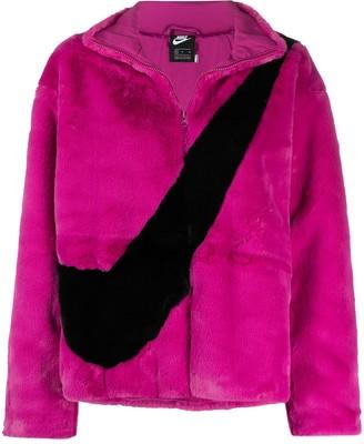 Nike Faux-Fur Zip-Up Jacket