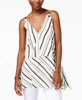 Max Mara Petalo Striped Peplum Top