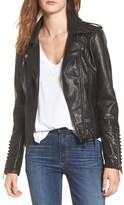 Vigoss Women's Studded Faux Leather Moto Jacket