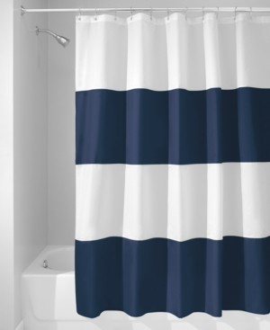 """InterDesign Zeno Stripe 72"""" x 72"""" Shower Curtain Bedding"""