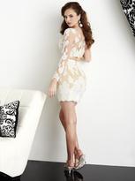 Hannah S - 27024 Two Piece Illusion Lace Applique Cocktail Dress