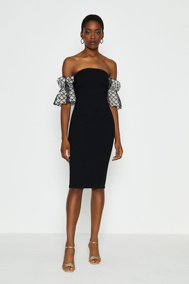 Coast Bardot Texture Sleeve Dress