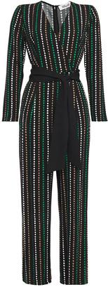 Diane von Furstenberg Edith Wrap-effect Polka-dot Crepe Jumpsuit