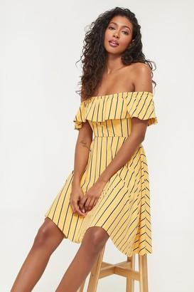 Ardene Super Soft Ribbed Off Shoulder Dress