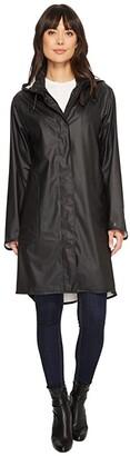 Ilse Jacobsen Lightweight True Rain Loose Fitting Trench Coat (Black) Women's Coat