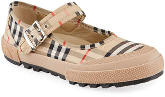 Burberry Elstead Check Mary Jane Sneakers