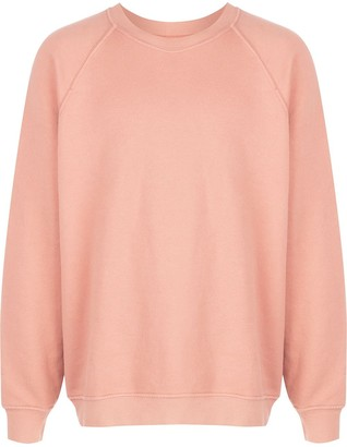 LES TIEN Raglan-Sleeves Cotton Sweatshirt