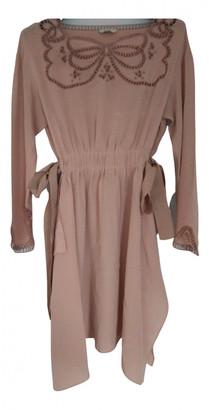 Fendi Pink Silk Dresses