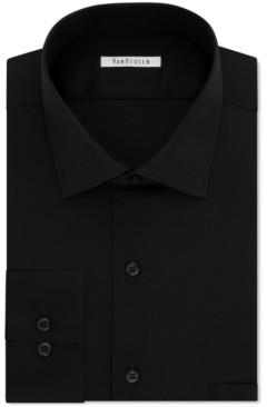 Van Heusen Men's Big and Tall Classic-Fit Wrinkle Free Flex Collar Stretch Solid Dress Shirt