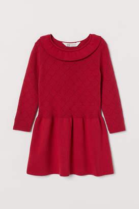 H&M Fine-knit Dress - Red
