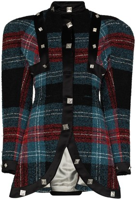 Charles Jeffrey Loverboy Tartan Check Pattern Jacket