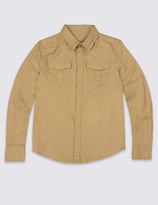 Marks and Spencer Pure Cotton Long Sleeve Shirt (3-14 Years)