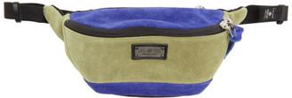 Master-piece Co Beige and Blue Revise Waist Bag