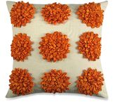 Dahlia Satin Tape Throw Pillow