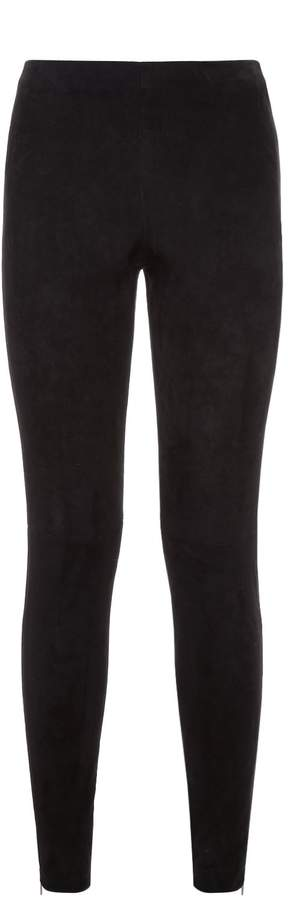 Amanda Wakeley Suede Ankle Zip Leggings