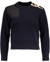 Marc by Marc Jacobs Shell-Paneled Ribbed Wool Sweater
