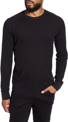 Vince Slim Fit Waffle Knit Long Sleeve T-Shirt