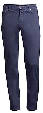 Kiton Men's Stretch Silk-Blend Five-Pocket Pants