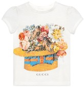 Gucci Toddler Girl's Flower Birds Graphic Tee