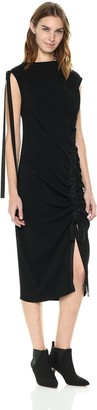 Kenneth Cole New York Kenneth Cole Women's Curved Drawstring Dress