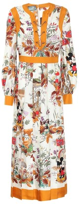 Gucci x Disney silk-twill shirt dress