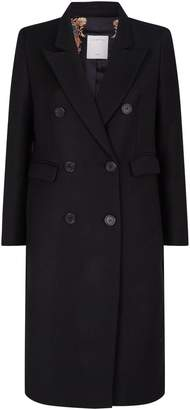 Sandro Wool-Blend Double-Breasted Coat