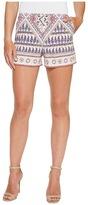 Hale Bob Beach Belle Stretch Rayon Sateen Shorts with Pockets/Zipper Women's Shorts