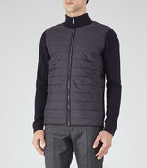 Reiss Montreux Quilted Zip Cardigan