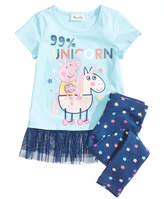 Peppa Pig Nickelodeon's 2-Pc. Unicorn Top & Leggings Set, Little Girls