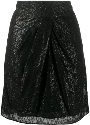 IRO Shimmer Leopard Print Skirt