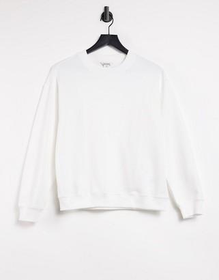 Monki Nana organic cotton sweatshirt in off white