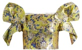 DELPOZO Floral-print off-the-shoulder cropped top