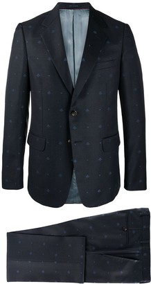 Gucci Single Breasted Bee Detail Suit