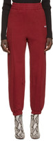 Vetements Burgundy Fitted Biker Lounge Pants