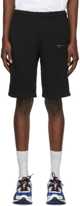 Off-White Black Unfinished Sweat Shorts