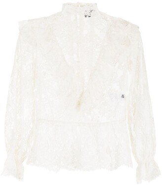 COOL T.M Lace Ruffle-Trimmed Blouse