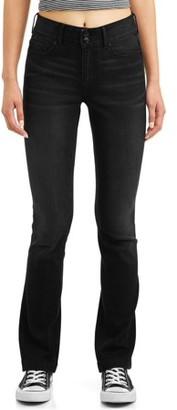 No Boundaries Juniors' High Waisted Bootcut Jeans