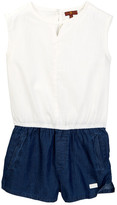 7 For All Mankind Two-Tone Romper (Big Girls)