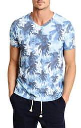 Sol Angeles Aqua Mirage V-Neck T-Shirt