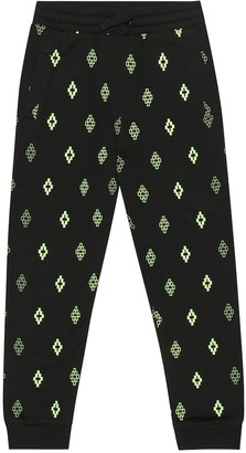Marcelo Burlon Kids Of Milan Logo cotton-blend trackpants