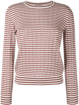 A.P.C. 'Annabelle' striped pointelle-knit sweater - women - Silk/Cotton/Cashmere - L